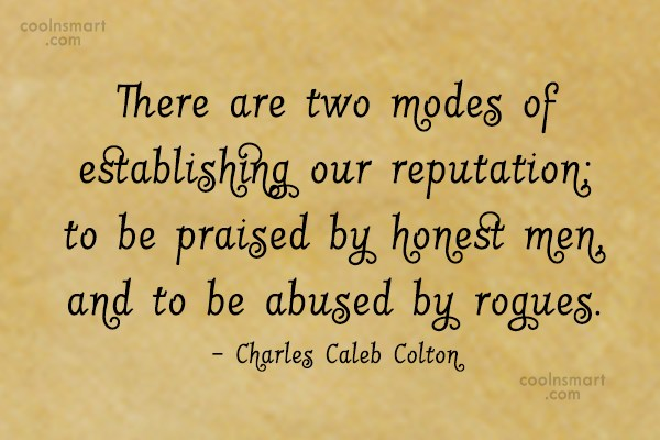 Quote: There are two modes of establishing our...