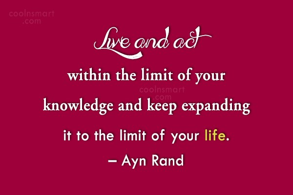 Quote: Live and act within the limit of...