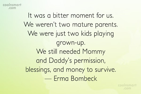 Parents Quote: It was a bitter moment for us....