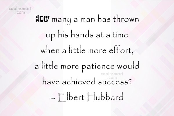 Quote: How many a man has thrown up...