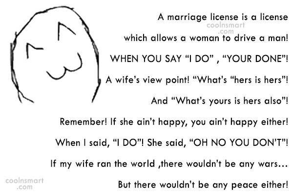 Funny Marriage Quotes Quote: A marriage license is a license which...