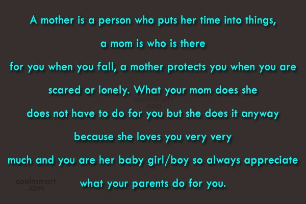 Mother Quote: A mother is a person who puts...