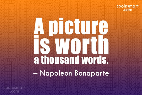 A Picture Is Worth A Thousand Words Quote Author