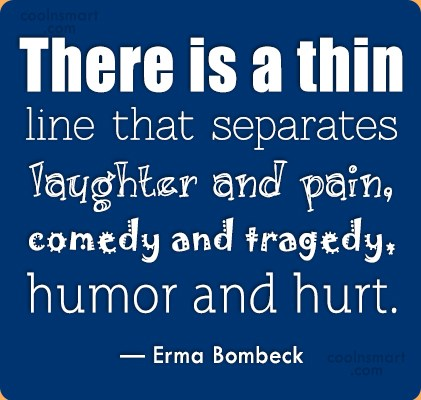 Hurt Quote: There is a thin line that separates...