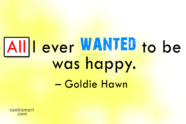 Quote: All I ever wanted to be was...