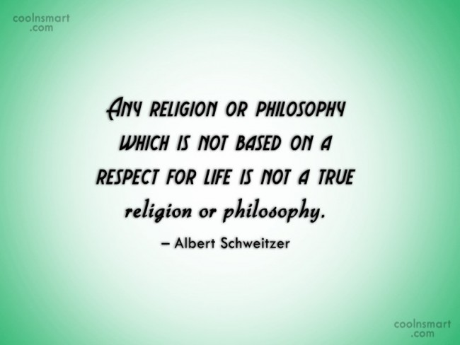 Religion Quote: Any religion or philosophy which is not...