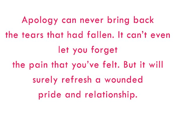 Sorry Quote: Apology can never bring back the tears...