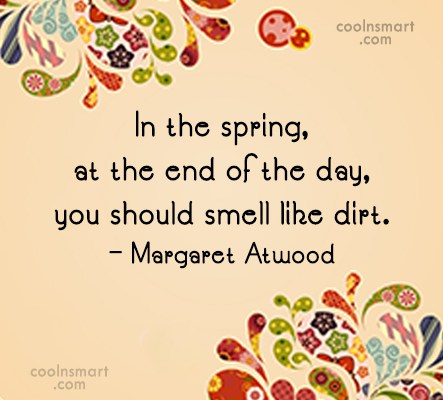 Quote: In the spring, at the end of...