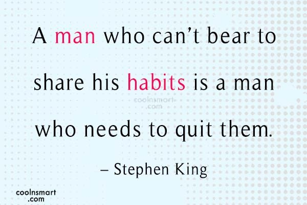 Quote: A man who can't bear to share...
