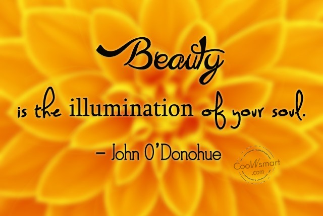 Soul Quote: Beauty is the illumination of your soul....