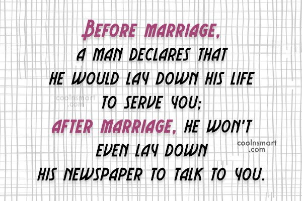Funny Marriage Quotes Quote Before Each Looks At The Other