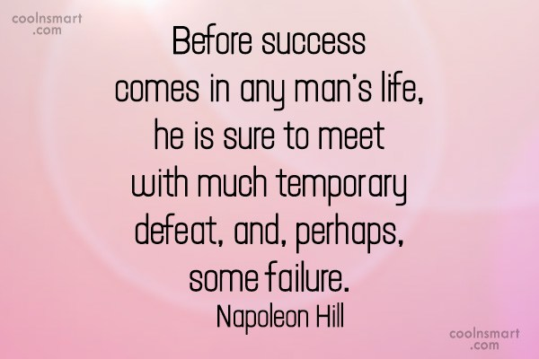 Success Quote: Before success comes in any man's life,...