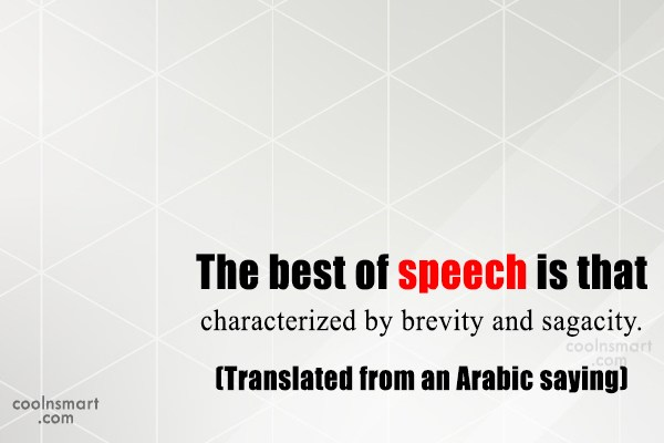 Simplicity Quote: The best of speech is that characterized...