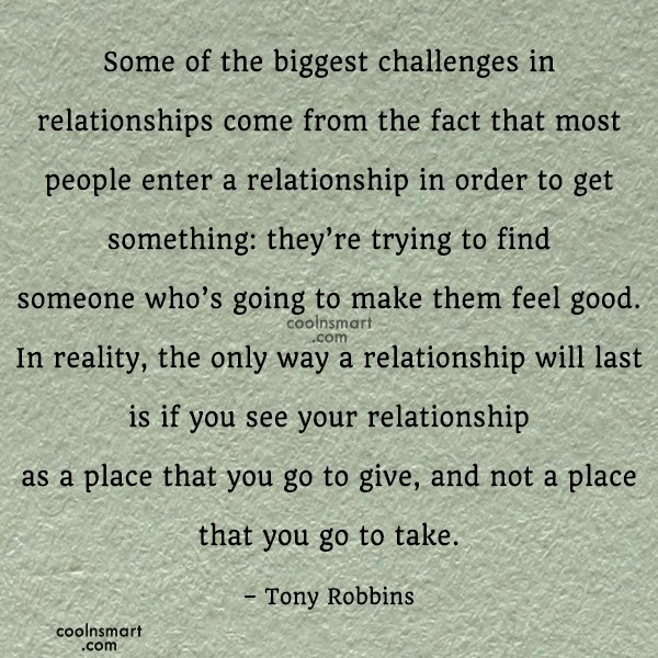 Quote: Some of the biggest challenges in relationships...