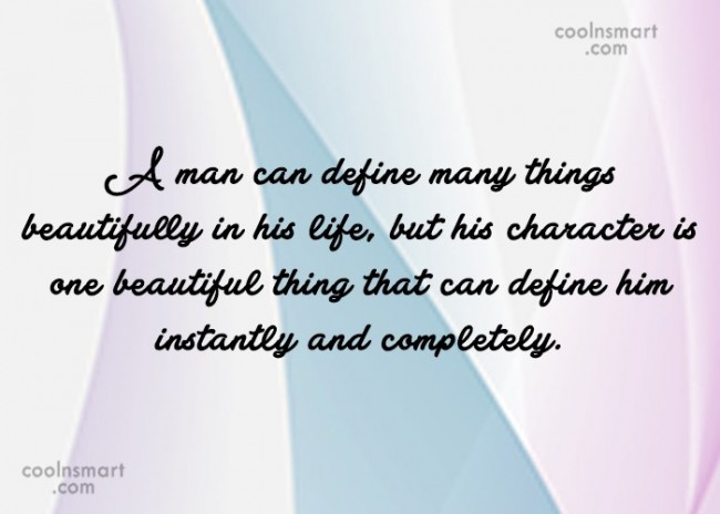 Hypocrisy Quote: A man can define many things beautifully...
