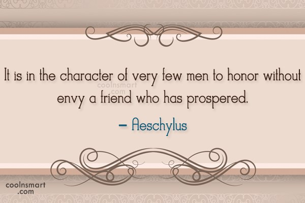 Quote: It is in the character of very...