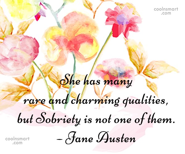 Quote: She has many rare and charming qualities,...