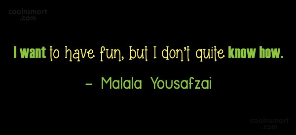Quote: I want to have fun, but I...