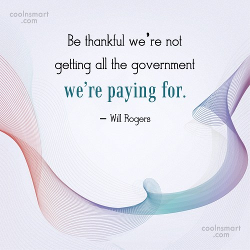 Tax Quote: Be thankful we're not getting all the...