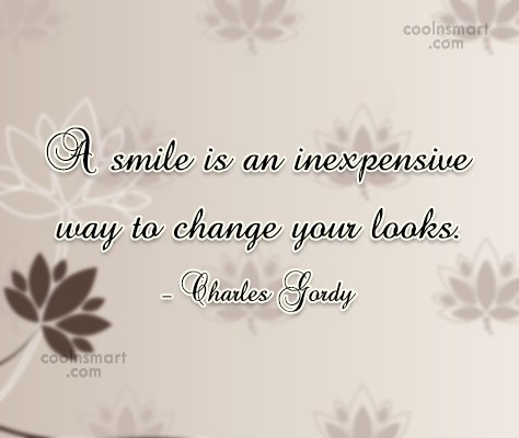 Beauty Quote: A smile is an inexpensive way to...