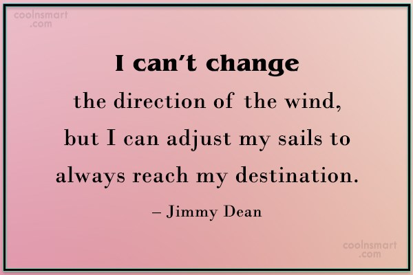 Attitude Quote: I can't change the direction of the...