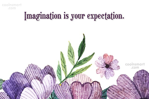 Expectation Quote: Imagination is your expectation.
