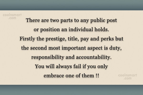 Government Quote: There are two parts to any public...