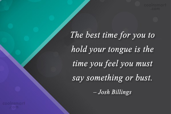 Quote: The best time for you to hold...