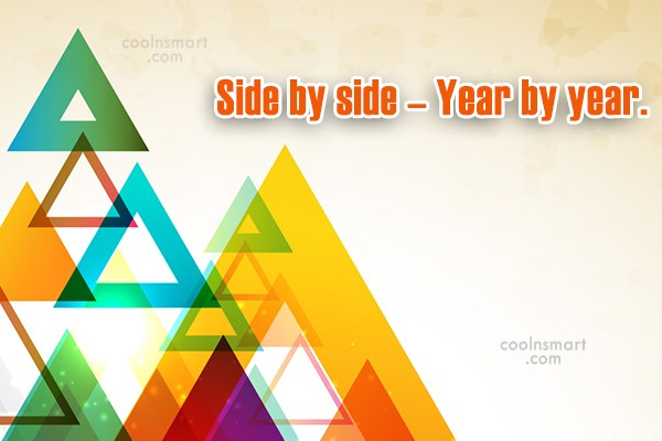 Anniversary Quote: Side by side – Year by year.