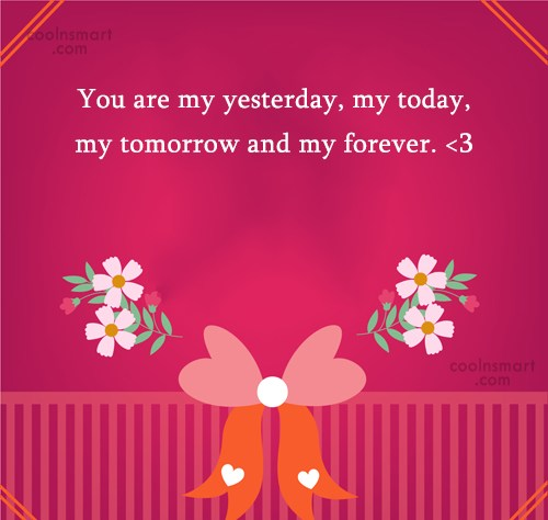 Anniversary Quote: You are my yesterday, my today, my...