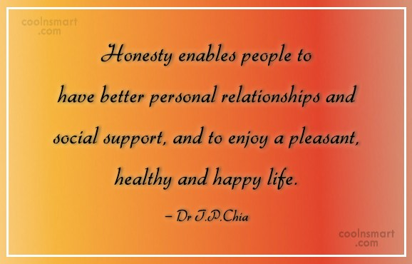 Honesty Quote: Honesty enables people to have better personal...