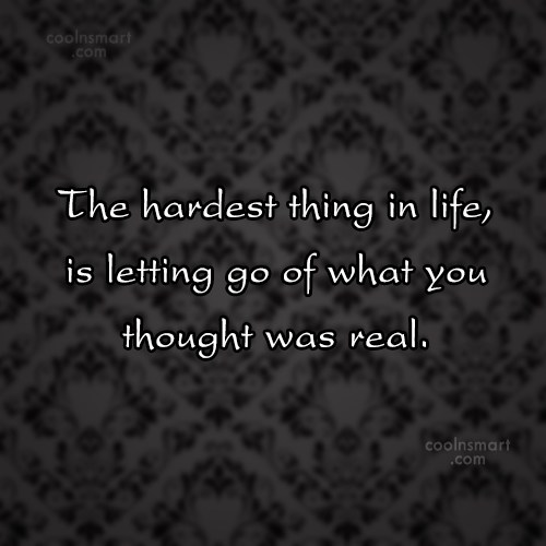 Goodbye Quote: The hardest thing in life, is letting...