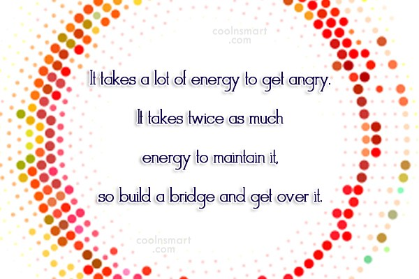 Anger Quote: It takes a lot of energy to...