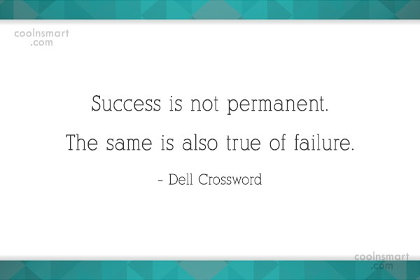 Success Quote: Success is not permanent. The same is...