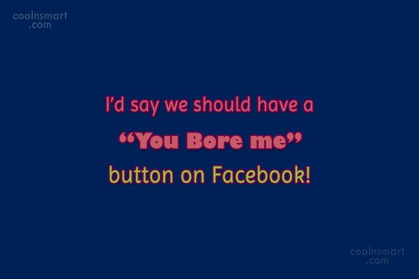 "Facebook Status Quote: I'd say we should have a ""You..."