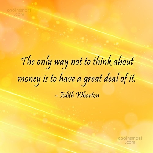 Money Quote: The only way not to think about...