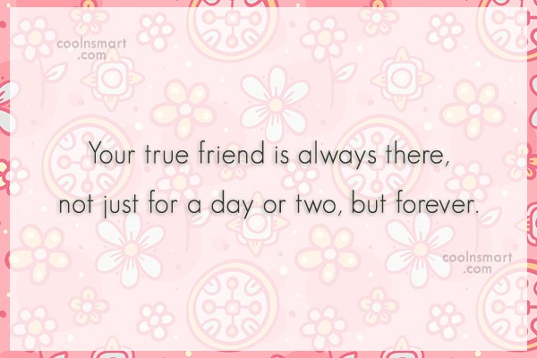 Best Friend Quote: Your true friend is always there, not...