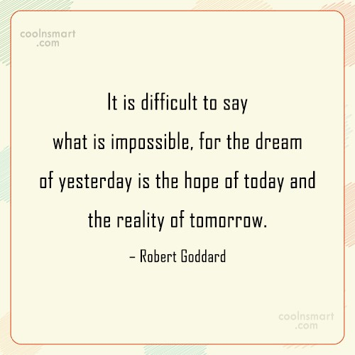 Dream Quote: It is difficult to say what is...