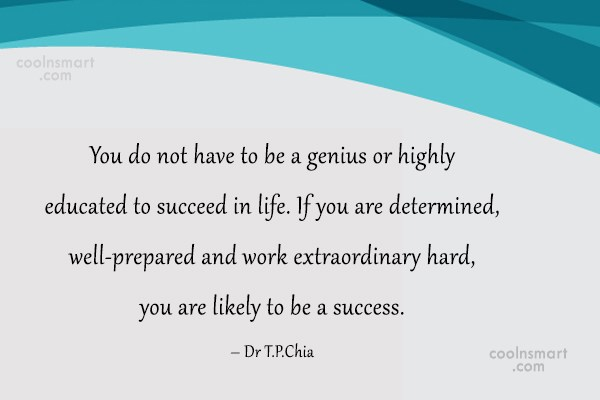 Determination Quote: You do not have to be a...