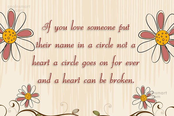 Images Quote: If you love someone put their name...
