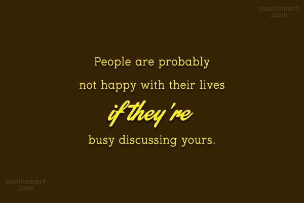 People Quote: People are probably not happy with their...
