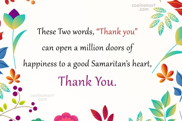 """Thank You Quote: These Two words, """"Thank you"""" can open..."""