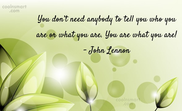 Quote: You don't need anybody to tell you...