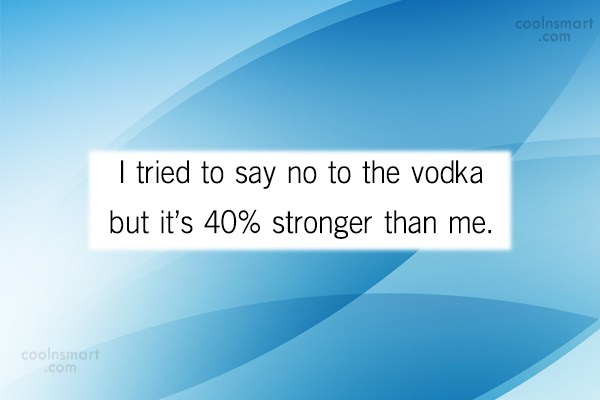Alcohol Quote: I tried to say no to the...