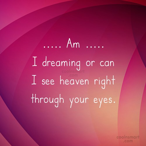 Flirting Quote: Am I dreaming or can I see...