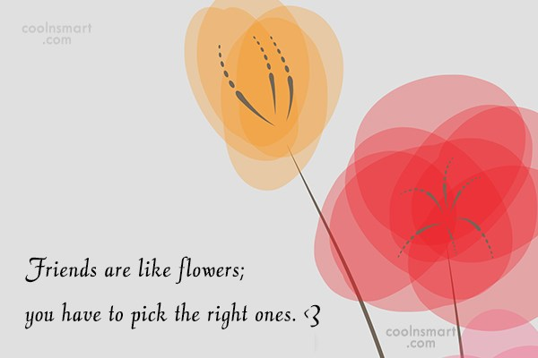 Quote: Friends are like flowers; you have to...