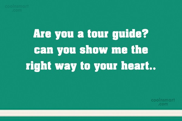 Quote: Are you a tour guide? can you...