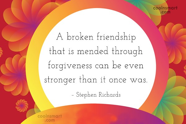 Quotes About Mending Friendships Magnificent Broken Friendship Quotes And Sayings  Images Pictures  Coolnsmart