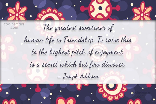 Quote: The greatest sweetener of human life is...