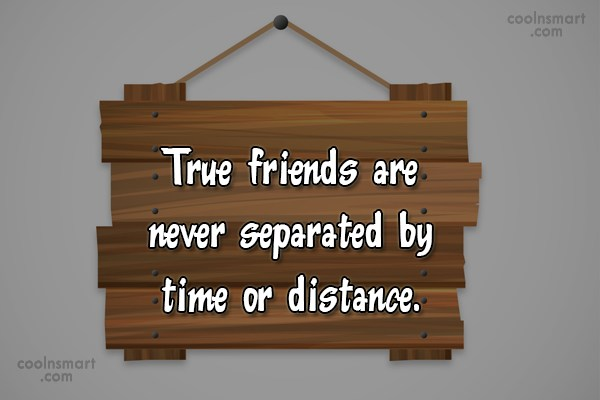 Best Friend Quote: True friends are never separated by time...